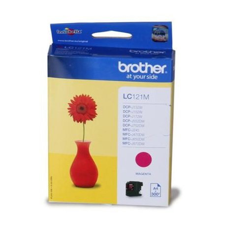 Brother Standard Ink Cartridge - Magenta (LC121M)