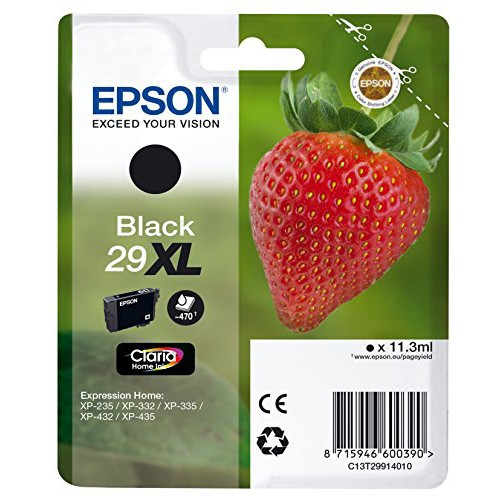 EPSON 29XL BLACK INK STRAWBERRY 1 X 11.3