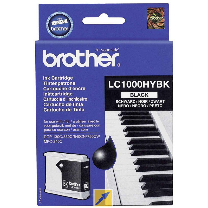 Brother LC1000HYBK Black Ink Cartridge (BRLC1000HYBK)