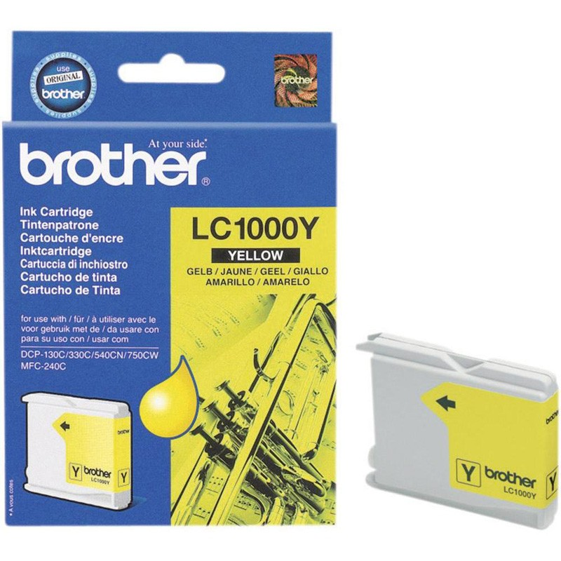 Brother LC1000Y Yellow Ink Cartridge (BRLC1000Y)
