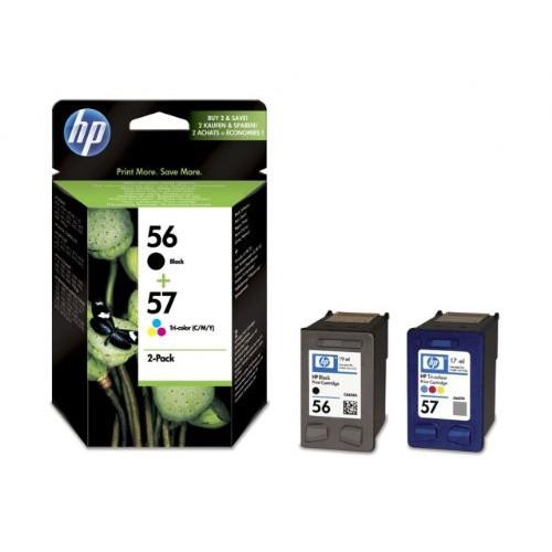 HP 56 Black/57 Tri-color Ink Cartridges 2-pack Original - SA342AE