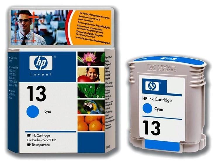 HP 13 Cyan Ink Cartridges ( C4815A )