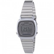 Casio Ladies Silver Dial Silver Watch