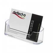 Deflecto Clear Single Pocket Business Card Holder