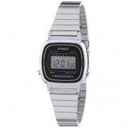 Casio Ladies Black Dial Silver Watch
