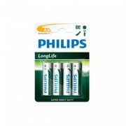 Philips R6L4B Longlife Zinc AA Battery (Pack of 4)