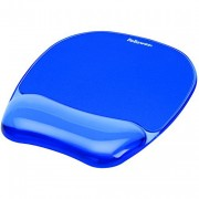 Fellowes Crystals Gel Mouse Pad With Wrist Support - Blue