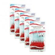 TePe Interdental Brush Red - XX-Fine 0.50mm -5 Pack -8 Brushes each