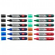 Nobo Liquid Ink Drywipe Marker for Whiteboards - Assorted (Pack of 12)