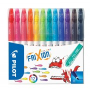 PILOT ERASABLE FELT PEN ASSORTED PK12