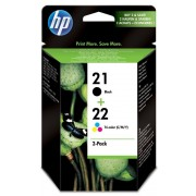 HP 21 Black and 22 Tri-color Ink cartridge combo pack ( C9351AE , C9352AE )