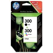 HP 300 Black & Tri Colour Ink Cartridges Combopack (CC640EE, CC643EE)