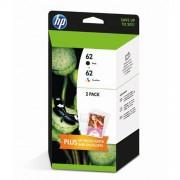 HP 62 Multipack Ink Cartridges Black/Tri-color Original - J3M80AE