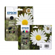 Epson Daisy 18 Multipack of 4 color and 18XL Black ink cartridge combo pack