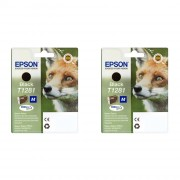 Epson Fox T1281 Black Inkjet Cartridge Twin pack ( C13T12814011 )
