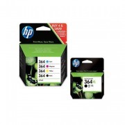 HP 364 (Cyan,Magenta,Yellow,Black) and 364XL Black combo pack of 5