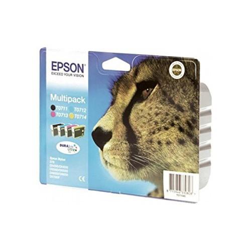 Epson T0715 Multipack Inkjet Cartridge (B/C/M/Y)