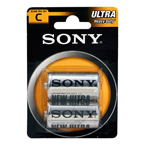 Sony Ultra 1.5V Size C R14 Dry Battery, Pack of 2