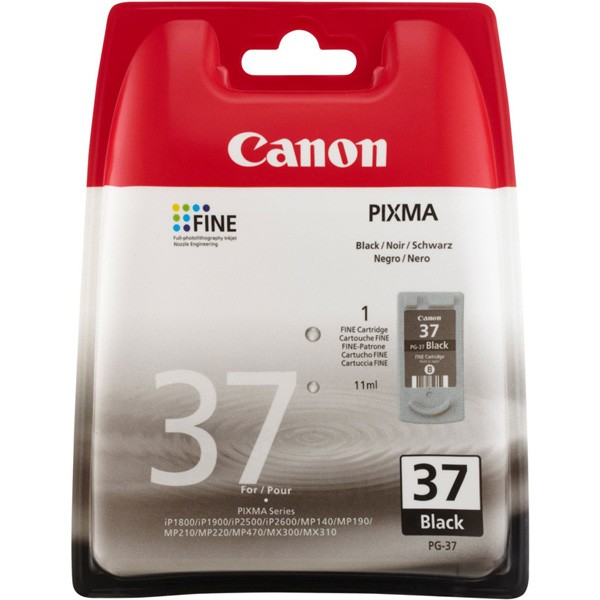 Canon PG-37 Black Ink Cartridge - 2145B001