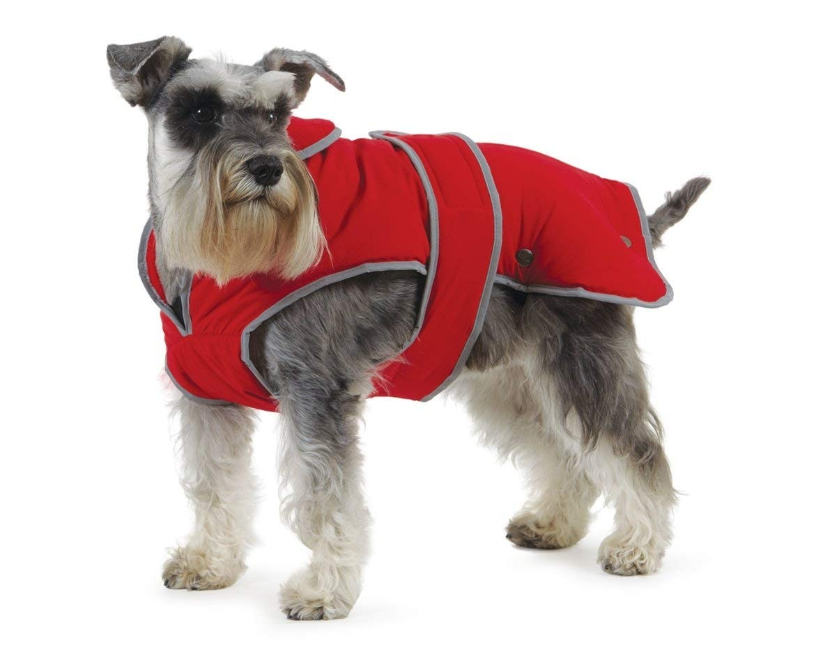 Muddy Paws Stormguard and Fleece Lining Coat, Red, Small