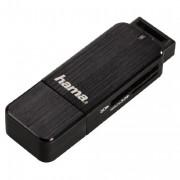 Hama Sd/Microsd Card Reader USB 3.0 Aluminium Black