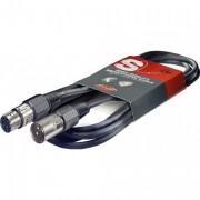 Stagg 3m Black High Quality XLR-XLR MICROPHONE CABLE