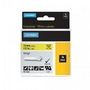 Rhino Coloured Vinyl Labels 12mmx5.5m Yellow