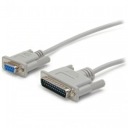 StarTech 10 ft F/M Cross Wired DB9 to DB25 Serial Null Modem Cable