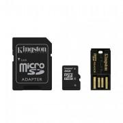 Kingston 8GB Multi Kit microSD card, Class 4 black Adapter